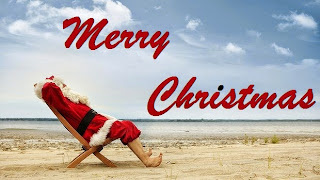 Merry Christmas 2015 Santa Wallpapers at Beach