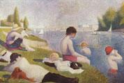 Georges Seurat (25) - Un baño en Asnières (1884)