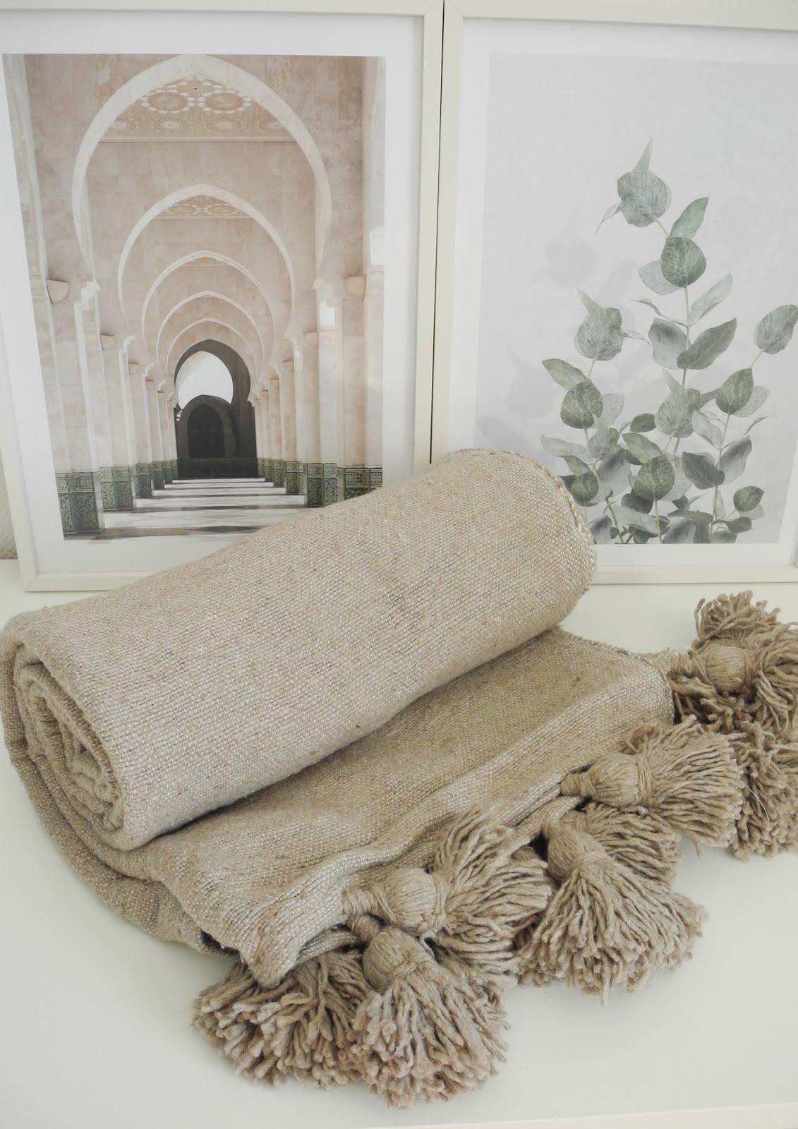 Pled bawełniany z chwostami NATURE