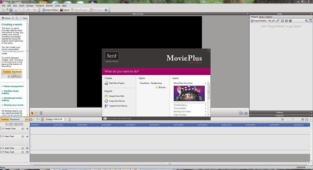 Download Free Serif MoviePlus X5 Starter Edition v1.0.0.6 With Key