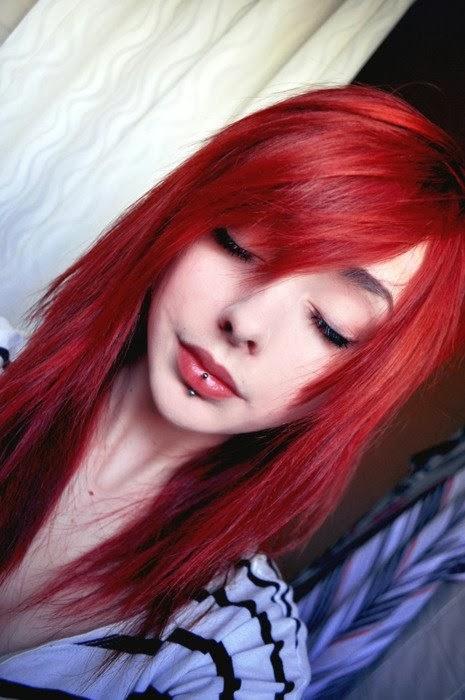 legítimo mensaje sensual cabello rojo