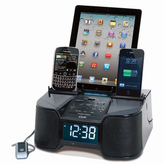 The Six Device Charging Clock Radio.