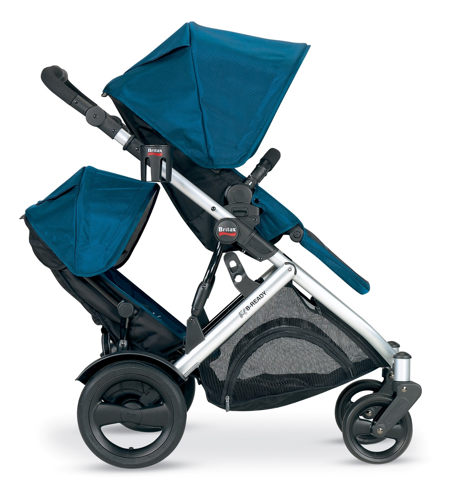 Review Britax B Ready With Second Seat on bugaboo donkey stroller