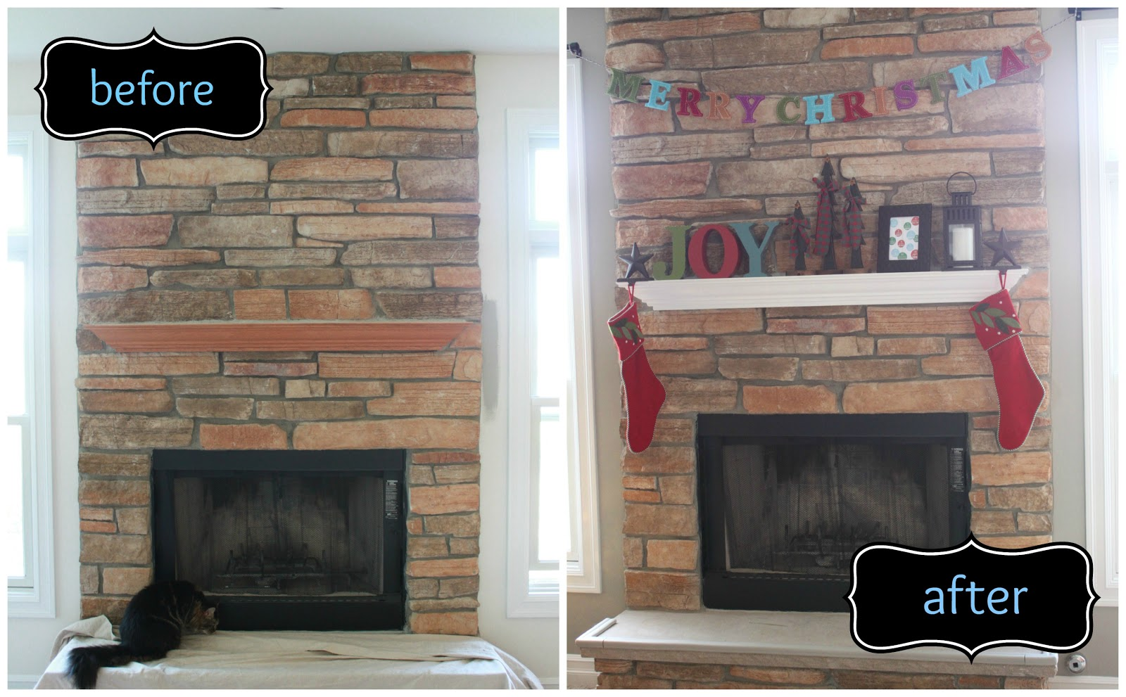 All Things DIY Fireplace Mantel Makeover