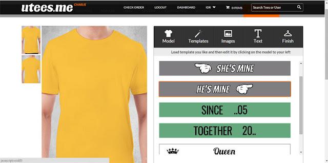 kaos custom, print tshirt, utees.me