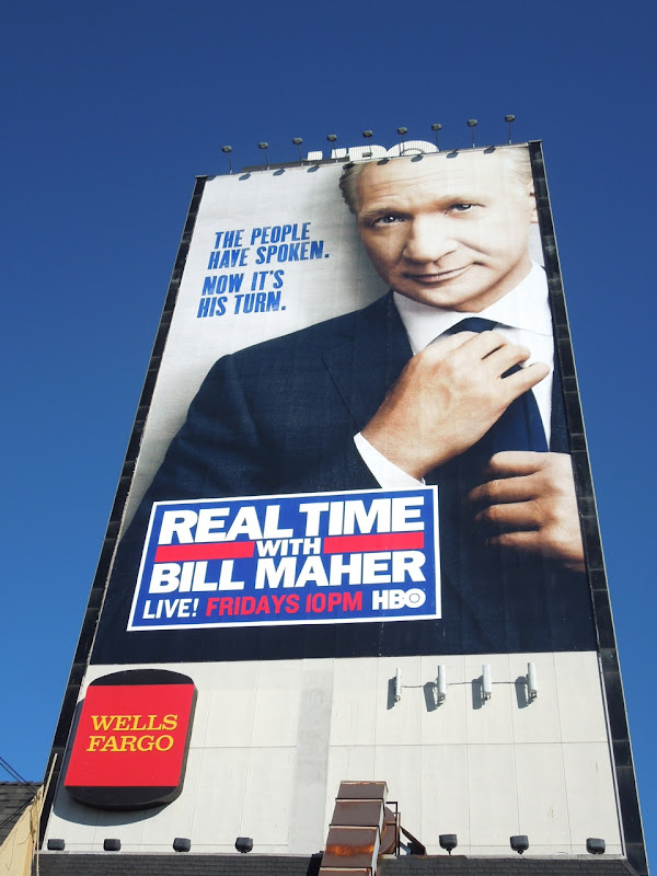 Real Time Bill Maher billboard