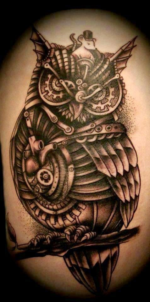 ♥ ♫ ♥ Steam Punk Owl Tattoo ♥ ♫ ♥