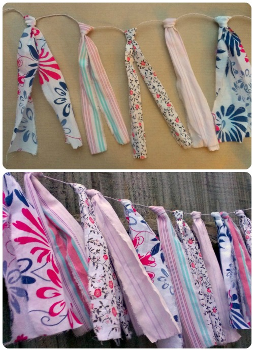 craftypainter: no-sew scrappy bunting DIY