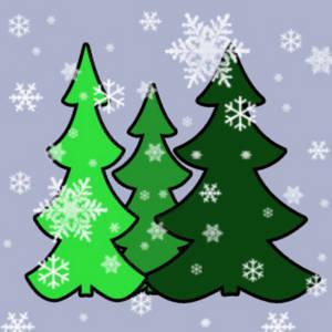 White Twig Christmas Trees