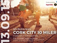 10 mile race in Cork City...Sun 13th Sept