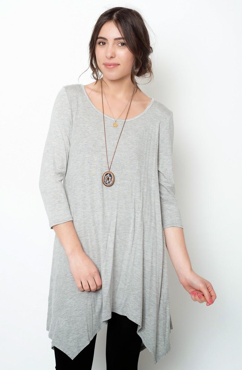 Buy online grey asymmetrical oversized hem tee dress for women on sale