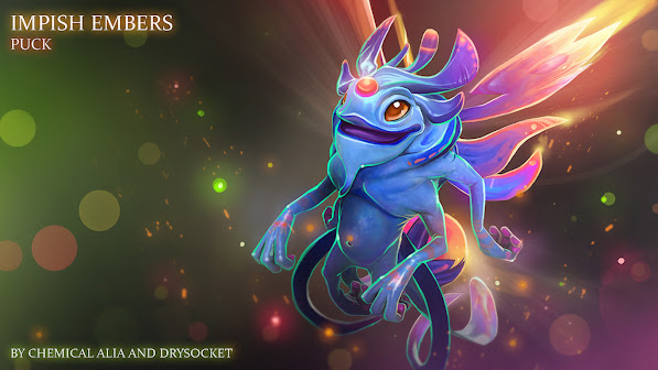 puck faerie dragon dota 2 game hd wallpaper 1366x768
