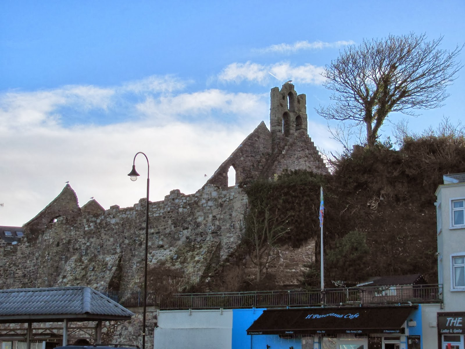 St. Mary's Abbey From the Harbor in Howth, Co. Dublin