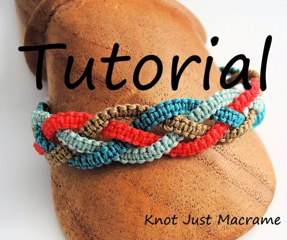 Micro macrame Braids bracelet tutorial.