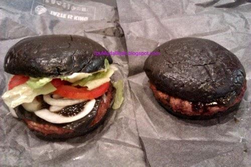 kuro diamond kuro pearl black burger burger hitam