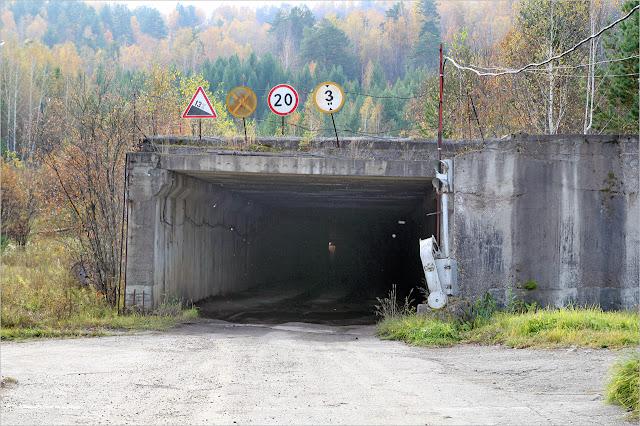 Вход в тоннель под Енисеем. ГХК