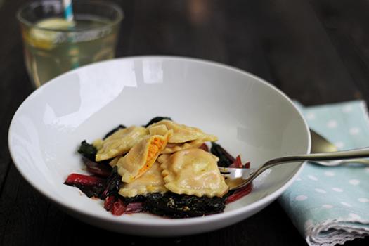 Ravioli Rezept vegetarisch  Möhrenravioli Mangold Holunderweg18 Foodblog