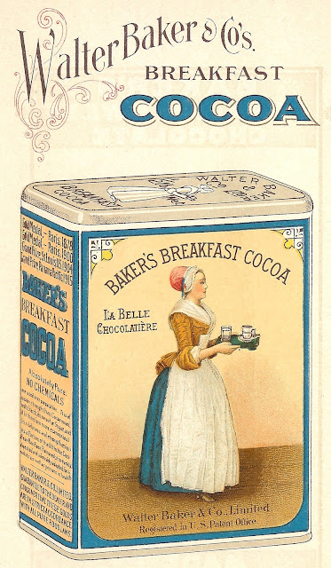 Baker's Cocoa Antique Advertisement Royalty Free Graphic via Knick of Time
