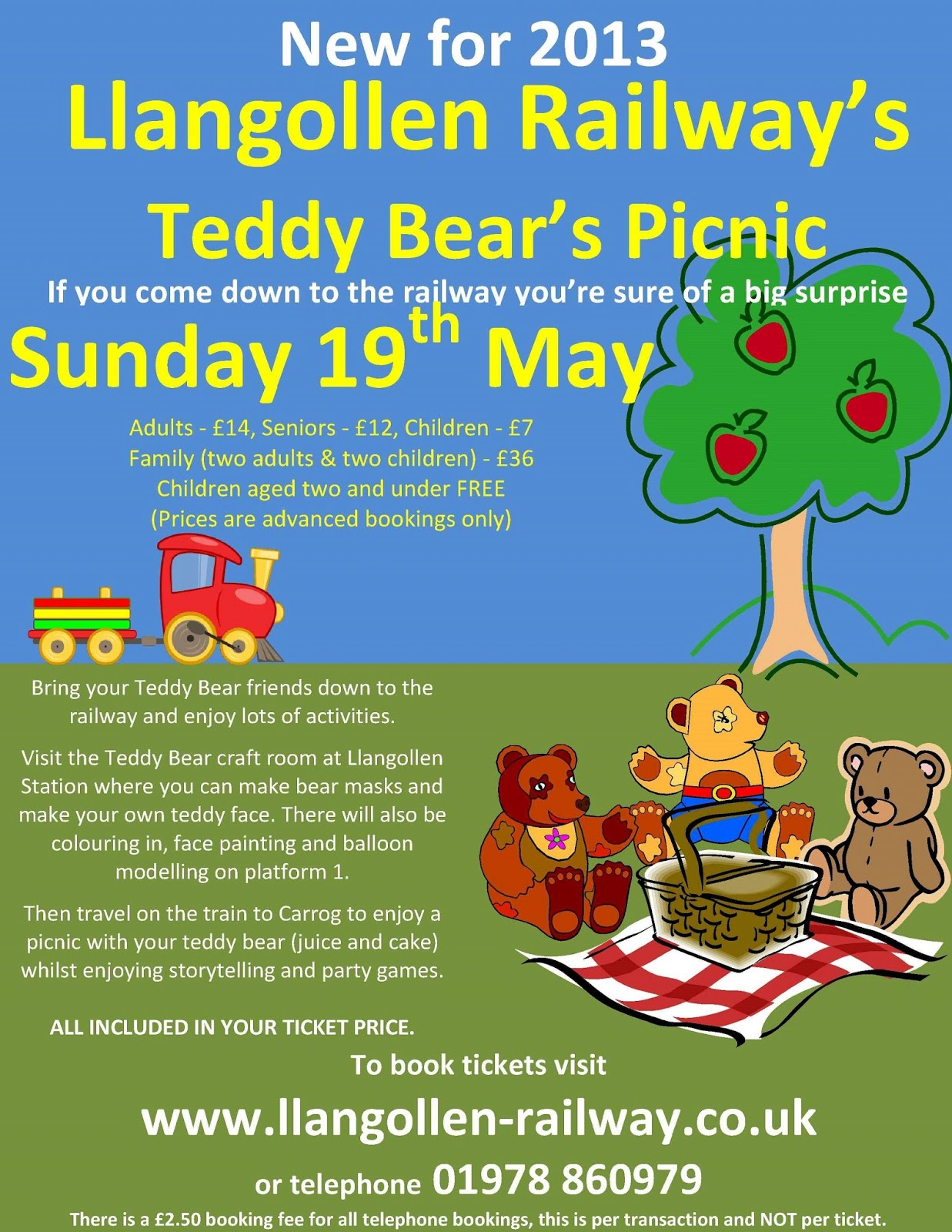 Railway Stages Its Teddy Bears Picnic