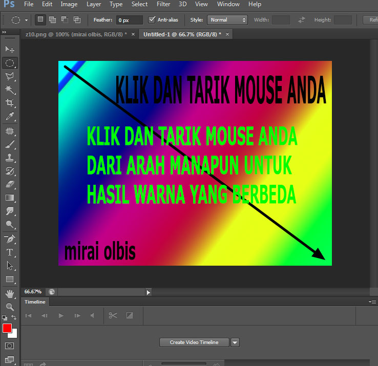 CARA BUAT BACKGROUND GRADASI DENGAN PHOTOSHOP