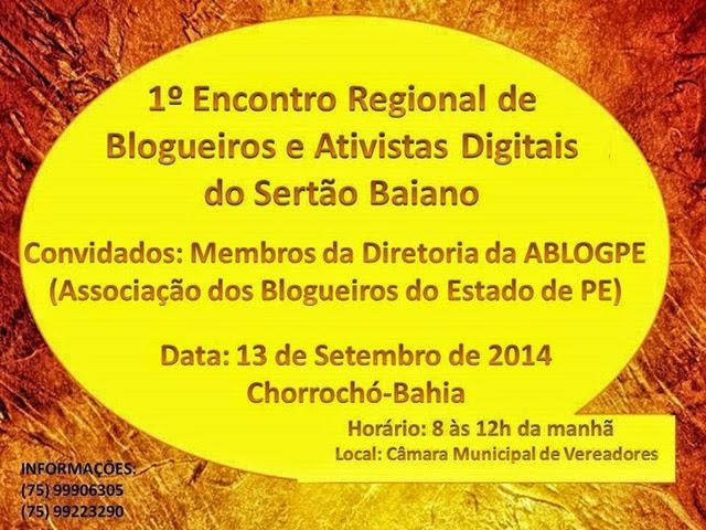 I ENCONTRO REGIONAL DE BLOGUEIROS DO SERTÃO BAIANO