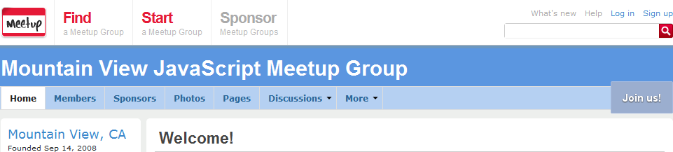 Mountain View Javascript Meetup Group Blog