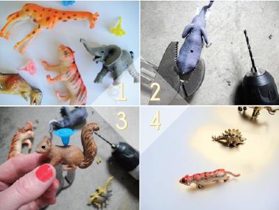 Crea tu propio soporte de velas con figuras de animales