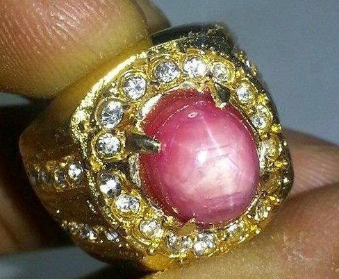 Batu Natural Ruby Star