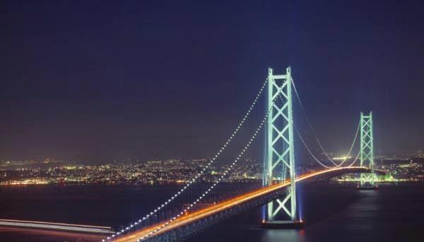 Puente Akashi-Kaikyo, Kobe, Japón