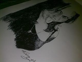 Desenho de Francilma Conceição - caneta esferográfica preta by Fabrício Sant'Ana