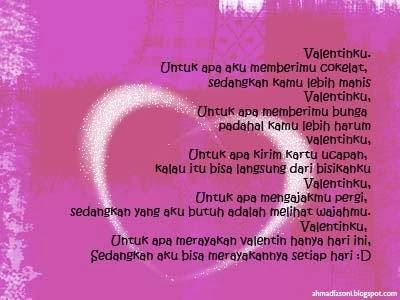 SMS Valentine, Update Status Facebook Valentine, BBM Valentine
