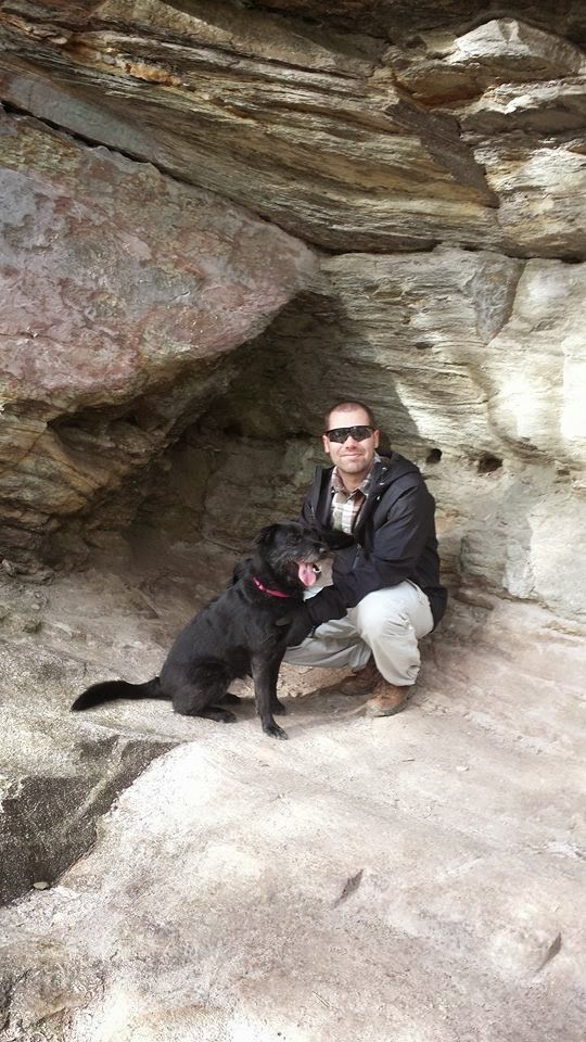 Jarrett and BeeGee looking warm at Hanging Rock Park