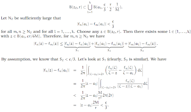 Complex Analysis: #22 Montel`s Theorem equation pic 1