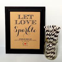 Sparkler Sendoff Line Sign