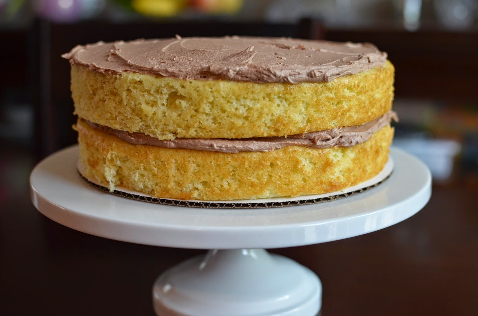 Playing with Flour: Vanilla layer cake with chocolate buttercream ...