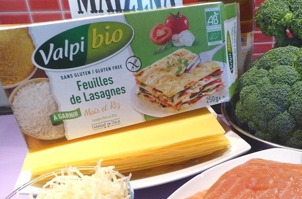 lasagnes sans gluten au saumon et brocolis
