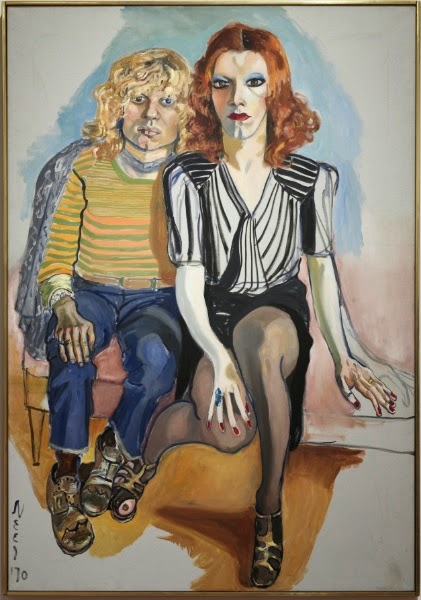Alice Neel - Jackie Curtis and Ritta Redd, 1970.