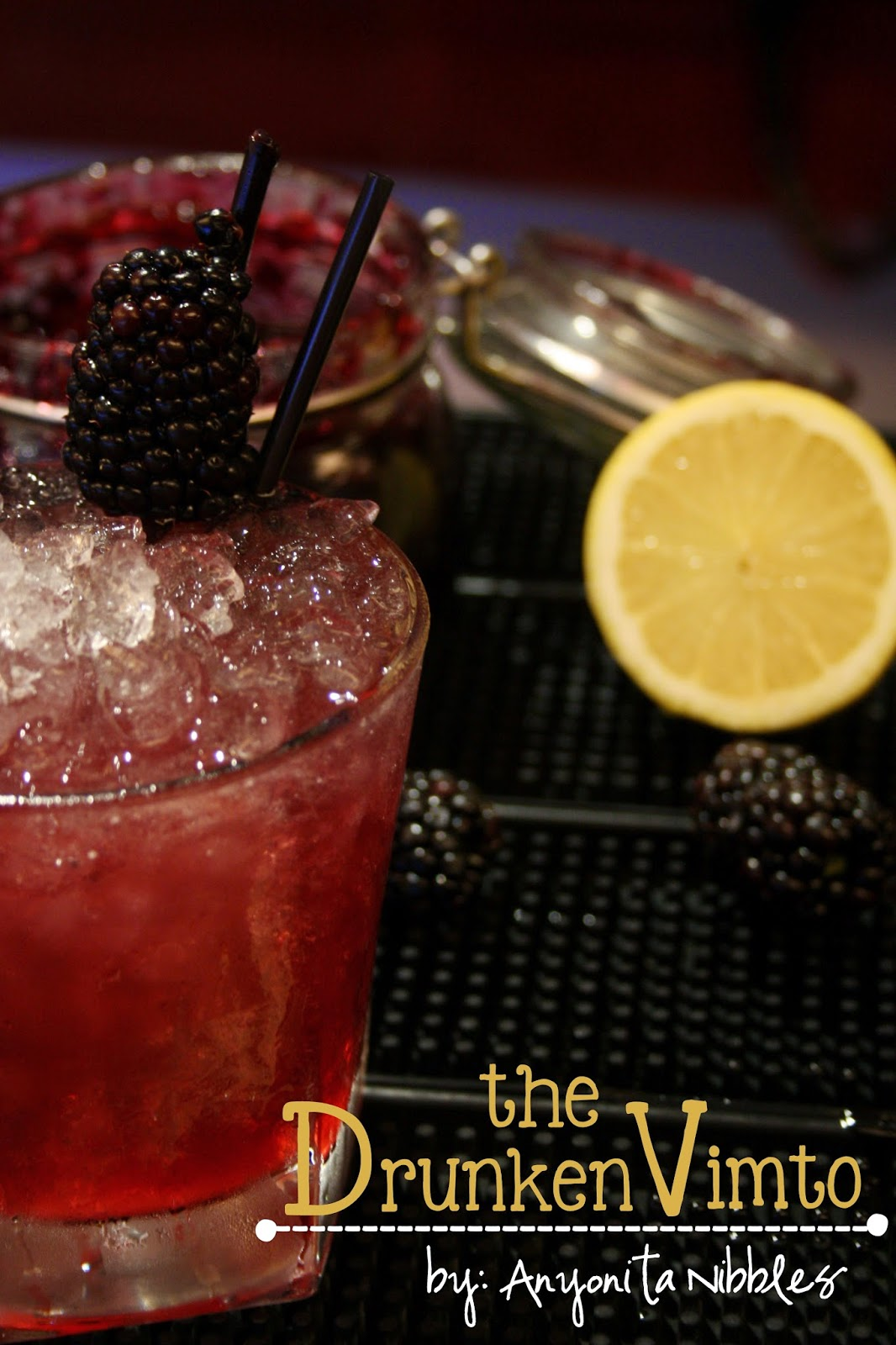 This sassy cocktail is full of berries, lemon, vodka and a dash of honey. From Anyonita Nibbles