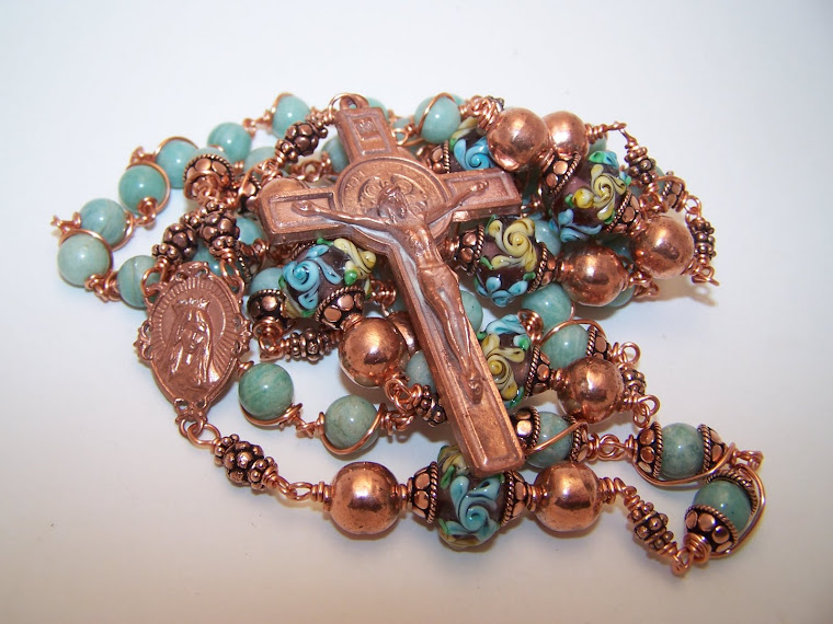 SOLID COPPER! Rosary Of The Sacred Heart Of Mary