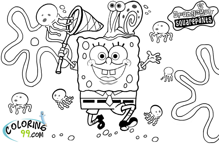 coloring pages of spongebob square - photo#16
