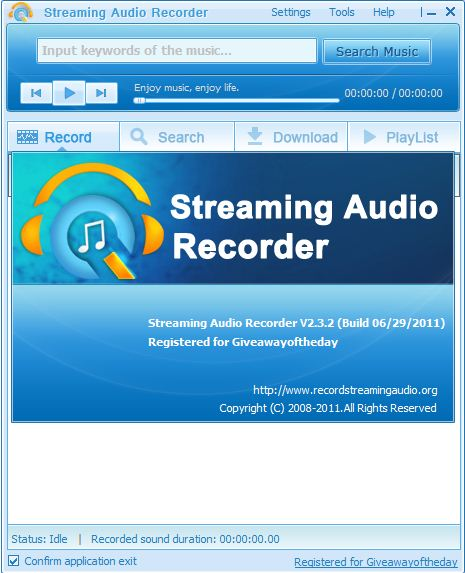Streaming Audio Recorder 2.3.2 +2.3.5 Software + Key