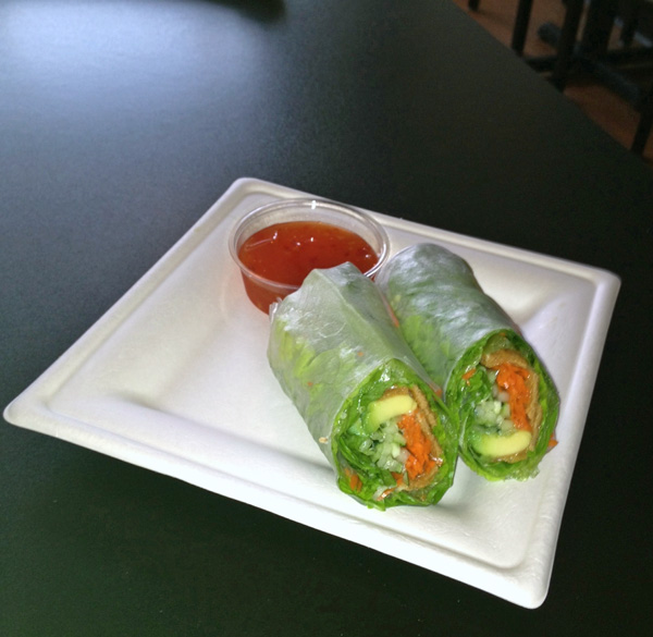 Inari Spring Roll at Nomzilla Sushi Restaurant in Nashville Tennessee