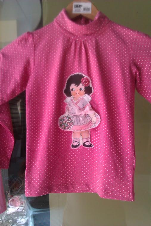 Camiseta lunar rosa