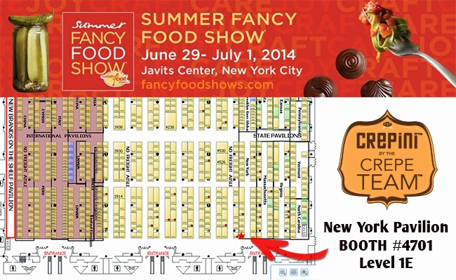 fancy food show 2014 new york address. this year\u0027s show is held at the jacob javits center in manhattan, new york from june 29 until july 1. crepini\u0027s booth number #4701, and enclosed below fancy food 2014 address