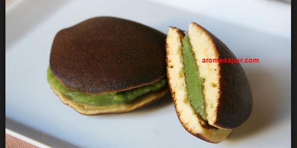 Resep dorayaki,resep kue dorayaki,kue dorayaki, cara membuat kue dorayaki,resep dorayaki greentea aromadapurdotcom