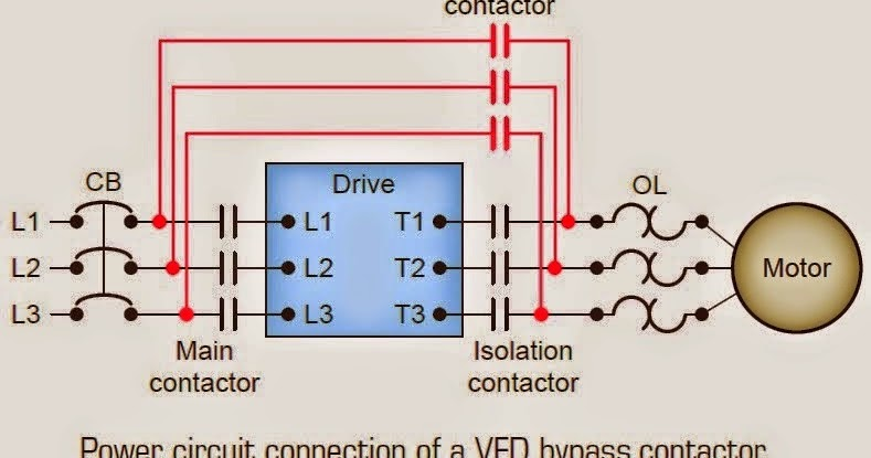 electrical engineering world power circuit connection of a vfd rh electrical engineering world1 blogspot com VFD Motor Schematic vfd bypass circuit diagram