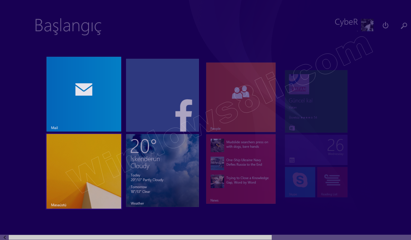 Windows 8.1 Metro Animasyon