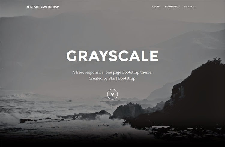 Grayscale - Free Bootstrap Theme