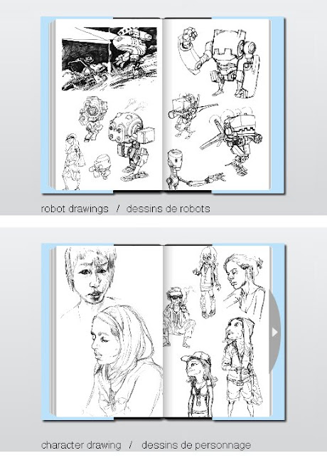 page du sketchbook / sketcbook pages