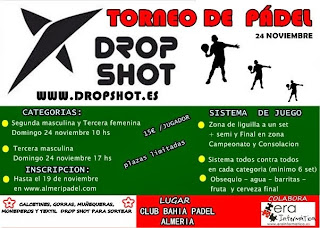 INSCRIPCION TORNEO PADEL DROP SHOT